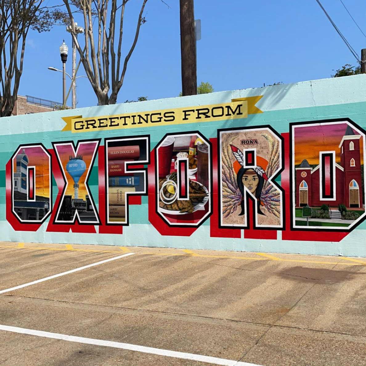 Mural in Oxford MS
