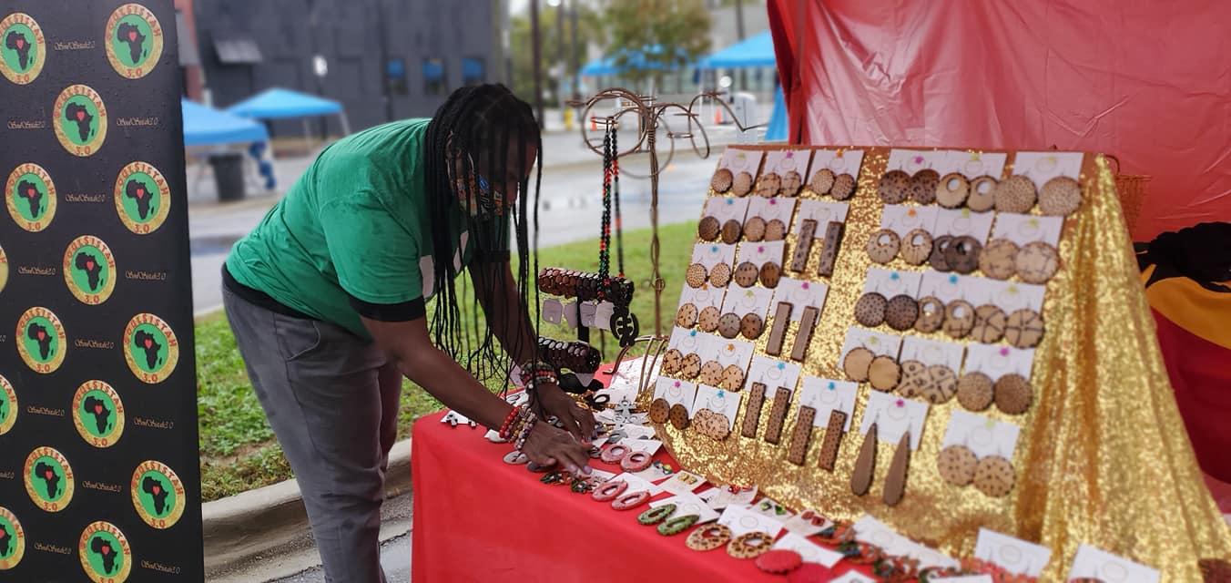 2021 Woodlawn Street Market vendor with earrings