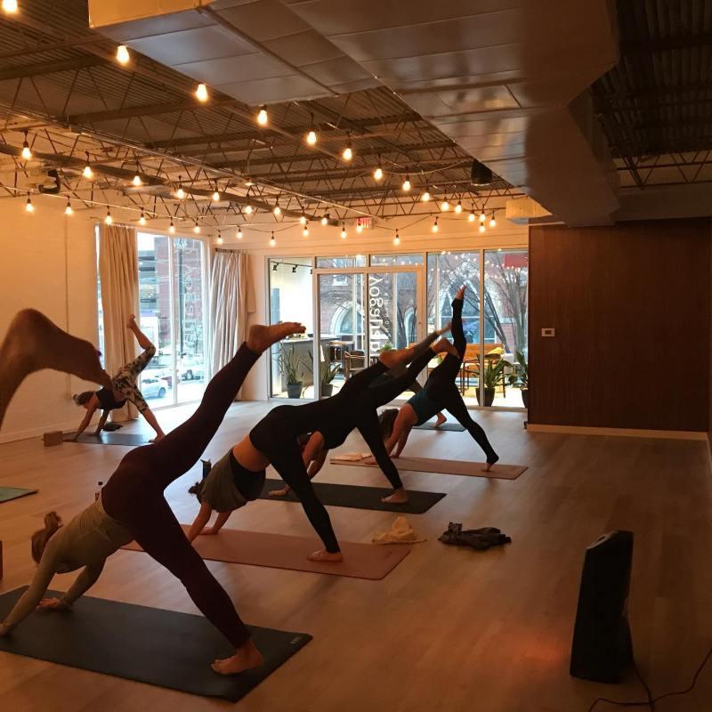 Yoga Lab yoga class