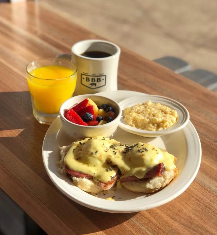 Birmingham buttermilk biscuit Eggs benedict - Big Bad Breakfast
