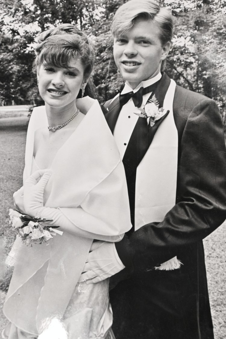 Kristina and Darrell O'Quinn at their prom when they were 18 years old. Photo courtesy of Kristina O'Quinn.