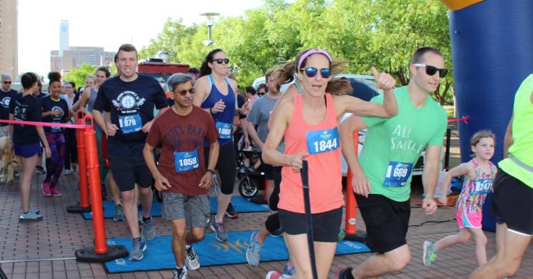 Runners at Spring Scramble 5K
