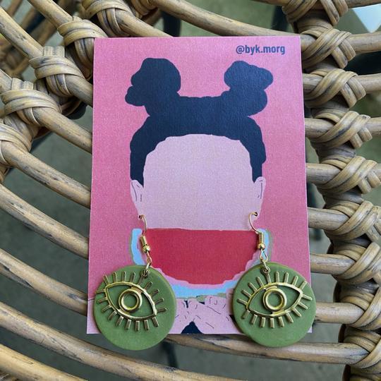 by K. Morg clay earrings