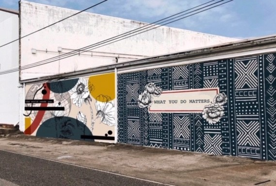 A mock up of Sozo's newest mural. How exciting! Graphic courtesy of Sozo Trading Co.