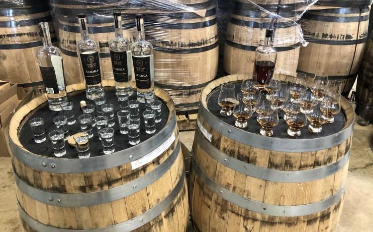 bourbon at distillery