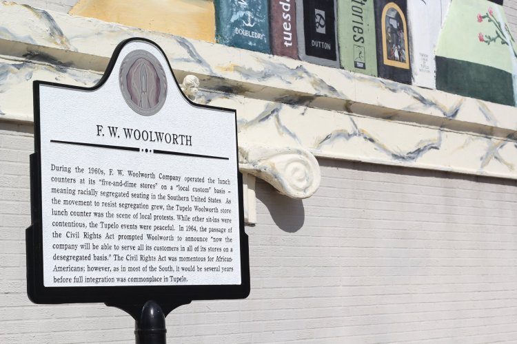 F. W. Woolworth Tupelo sign