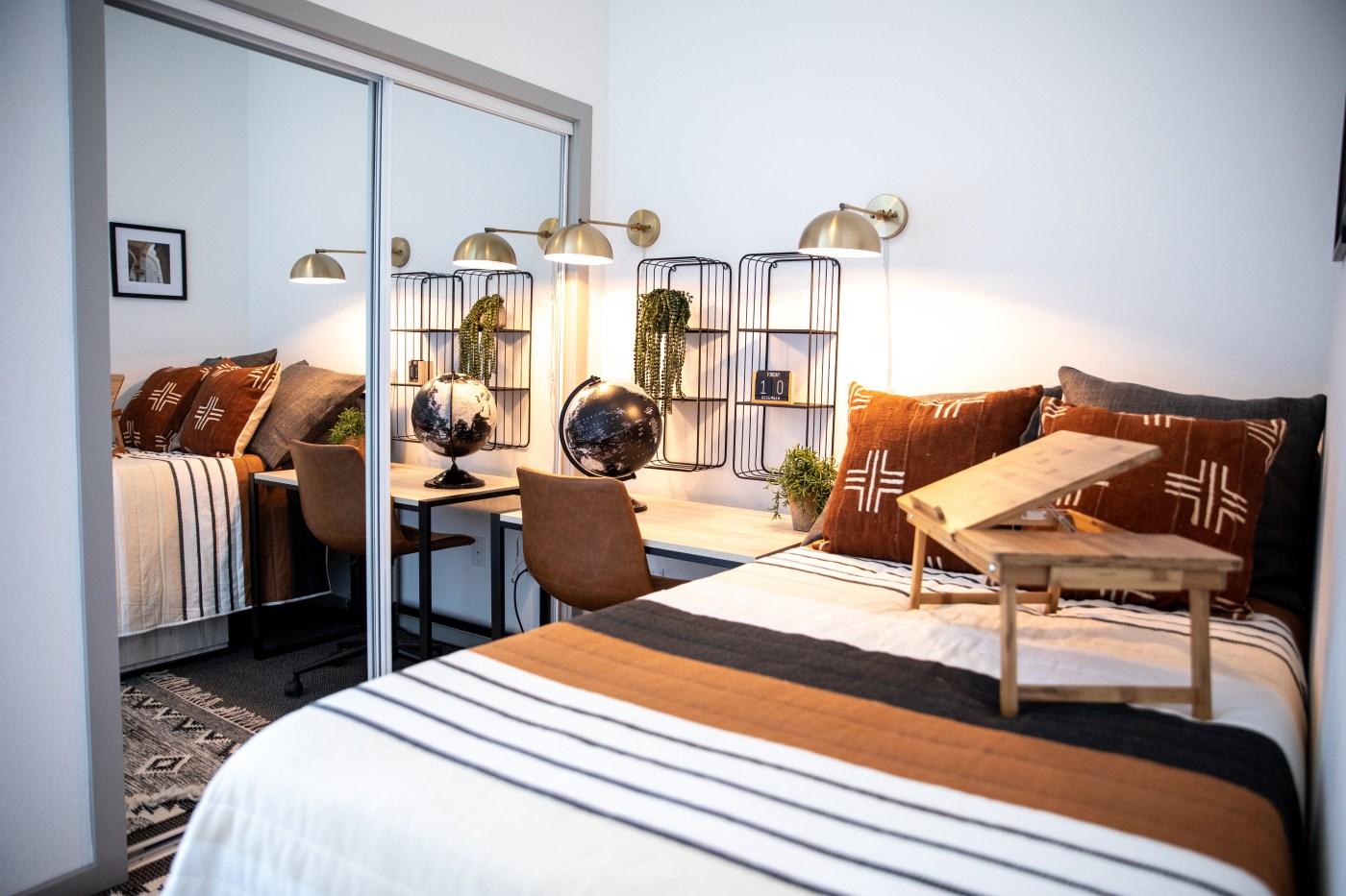 Birmingham student living bedroom