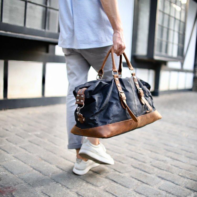 Flint Leather Co duffel