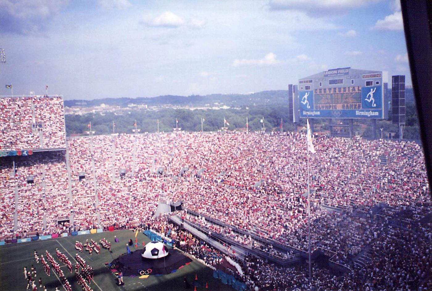 Legion Field packed during 1996 Olympics