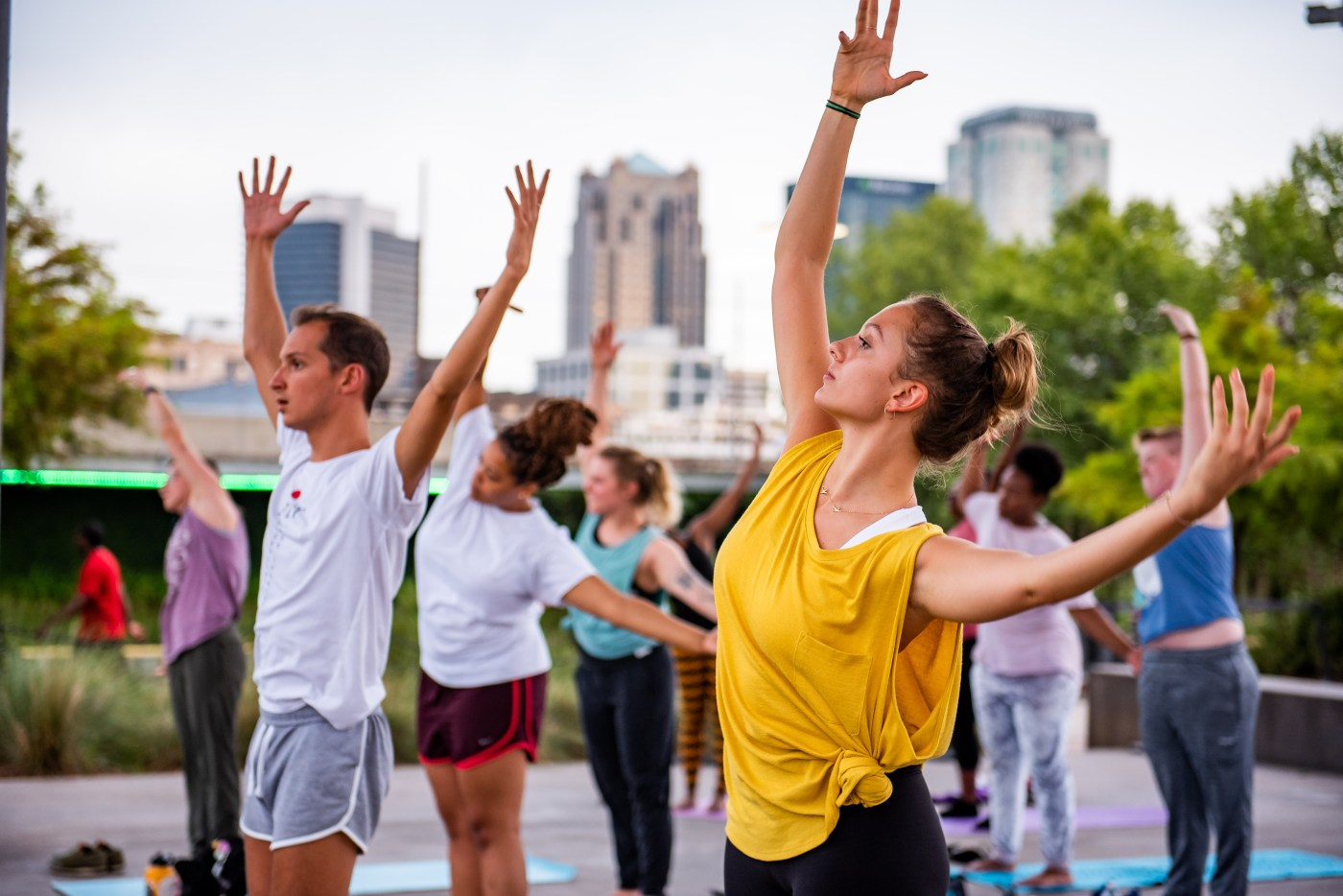 free exercise classes in railroad park