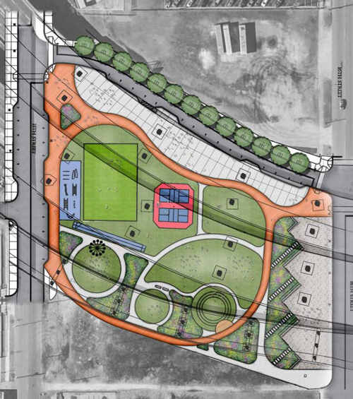 Block A: 15th Street to 16th Street RECREATIONAL SPORTS AND GATHERING SPACE