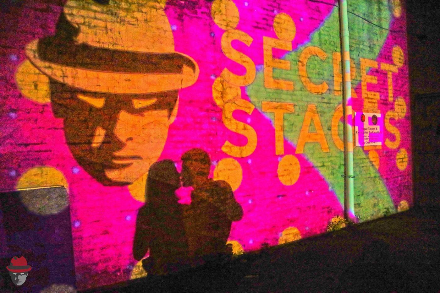 Secret Stages digital projection