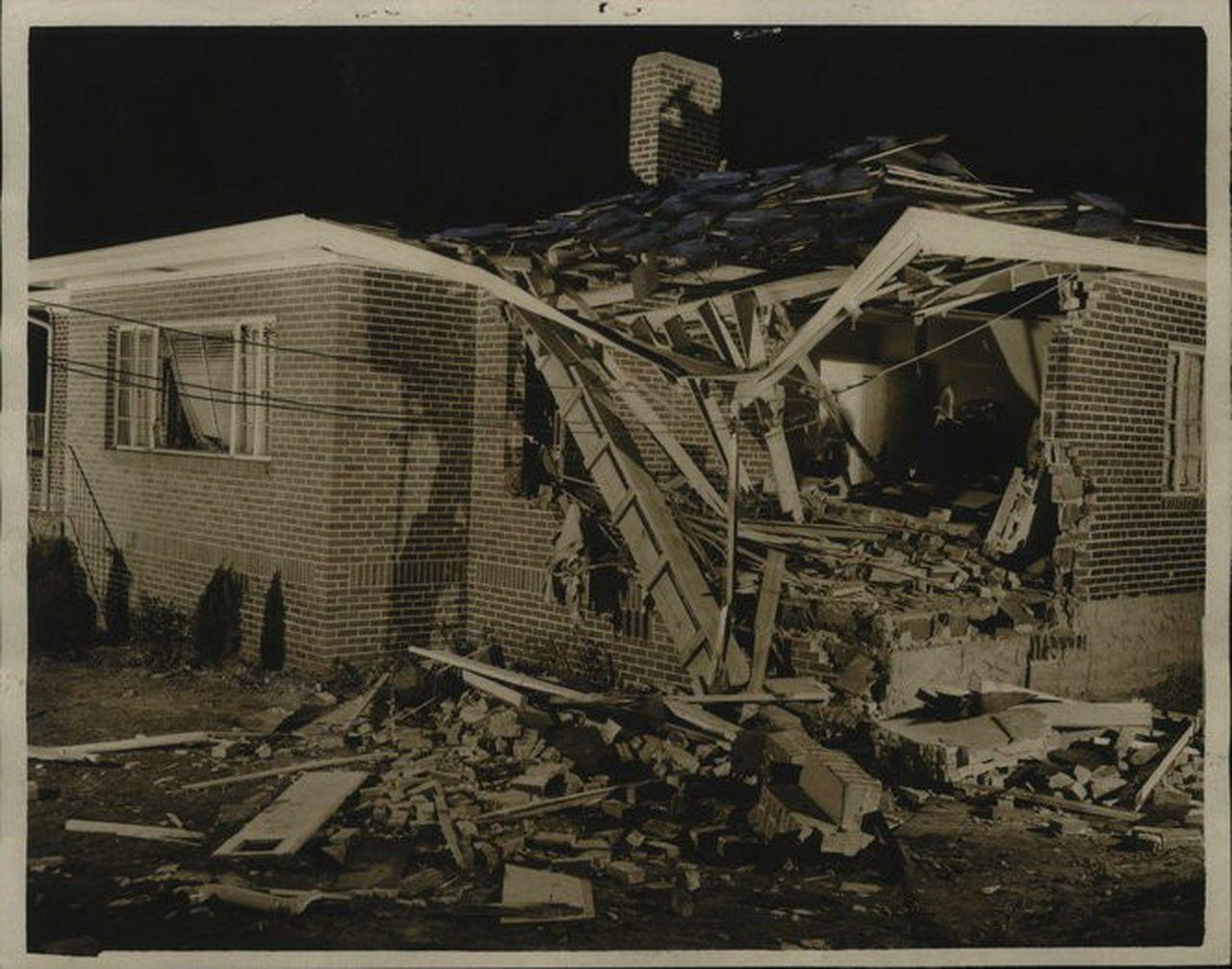 5-Monk residence bombing, 1950, Vulcan Park & Museum, Dynamite Hill, Center Street