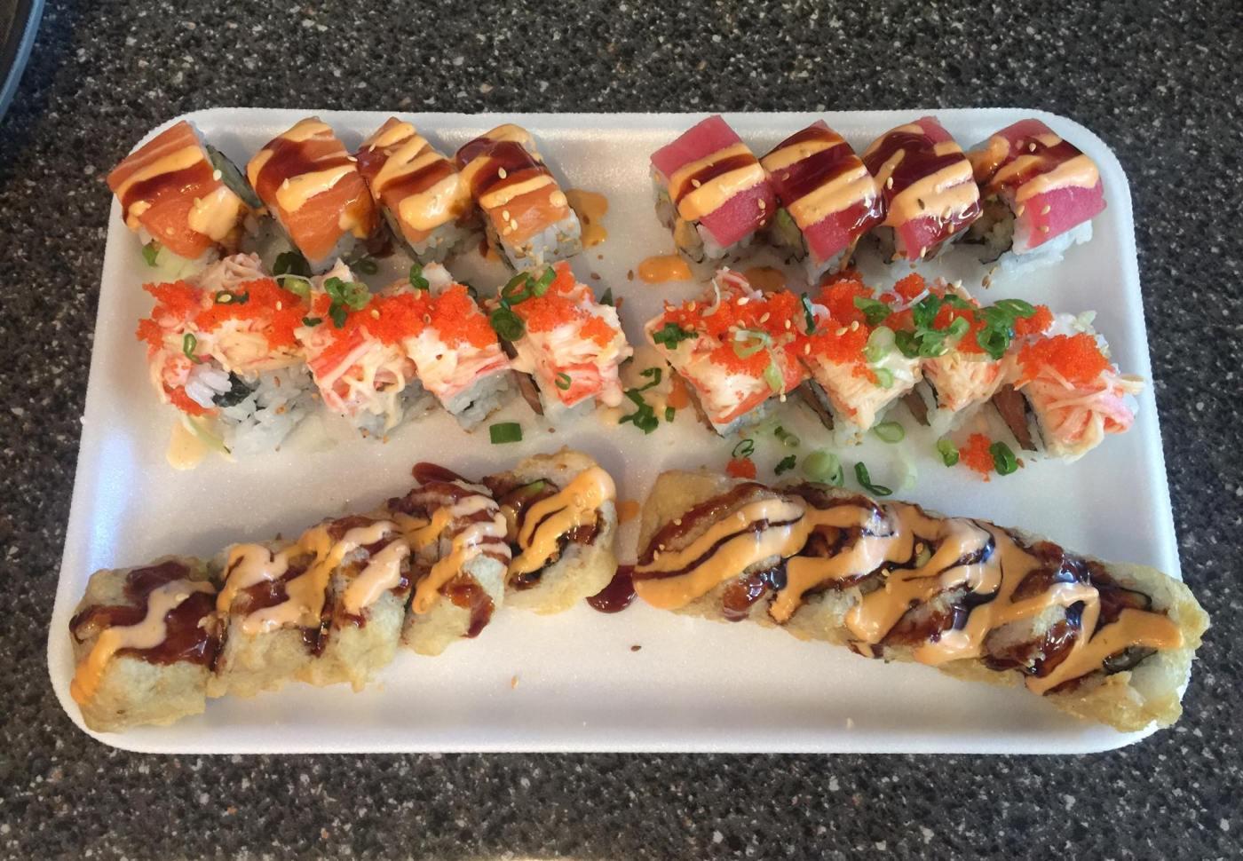 Bayou Fresh Seafood sushi