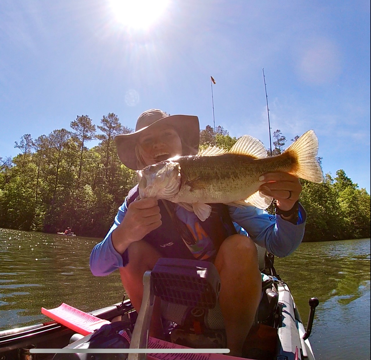 Jessica Norris, kayak fishing
