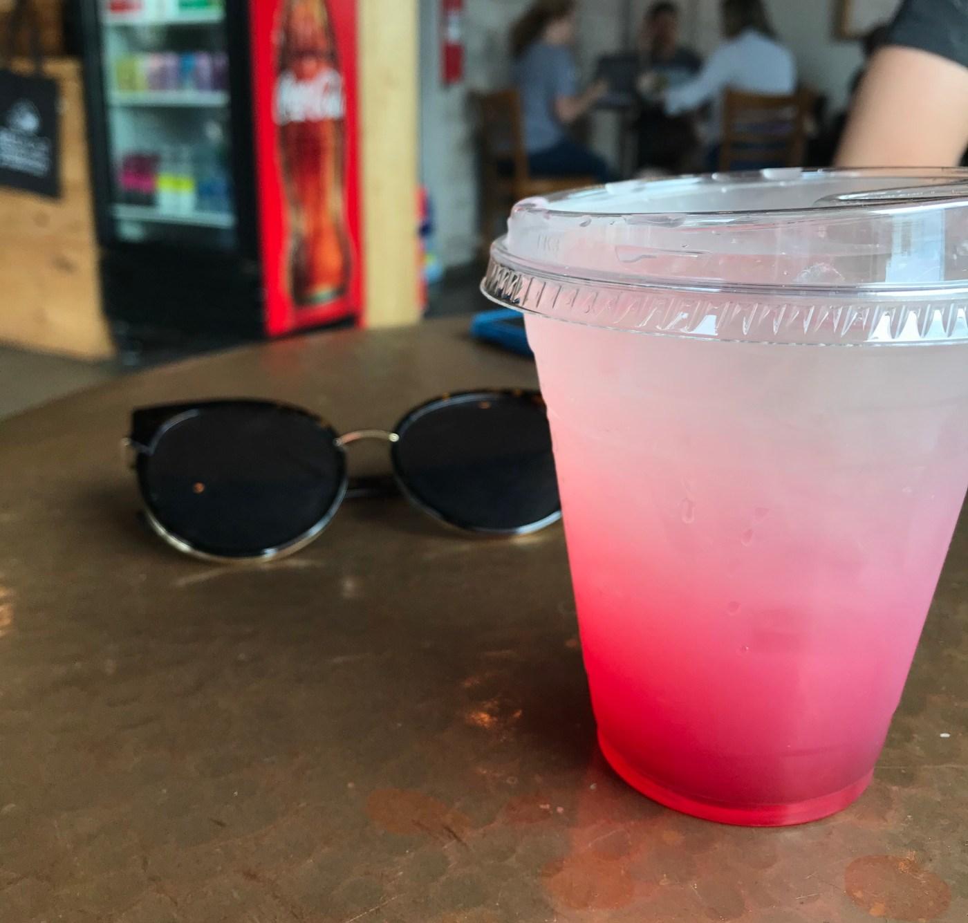 Dragonfruit lemonade from Red Cat Cafe