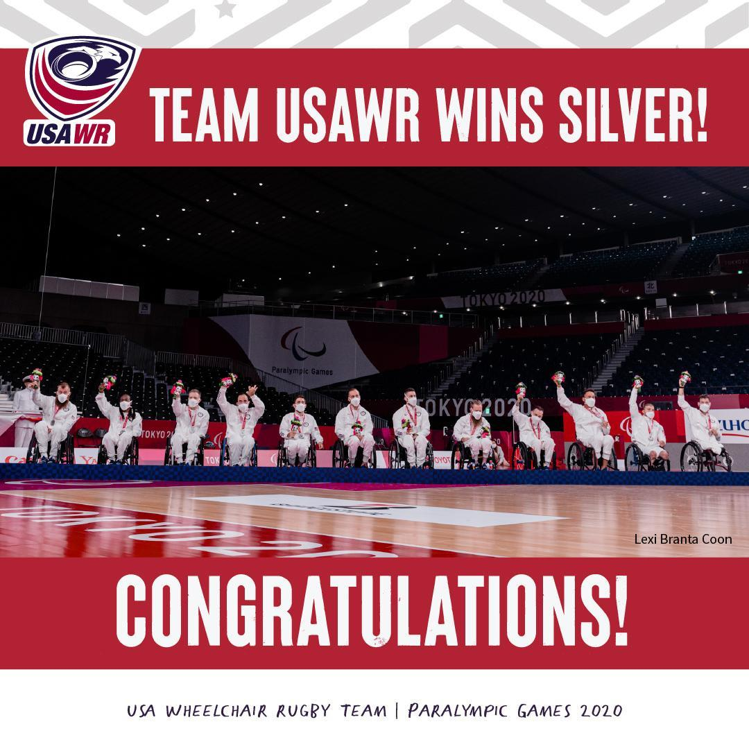The USA Wheelchair Rugby team brought home the silver.