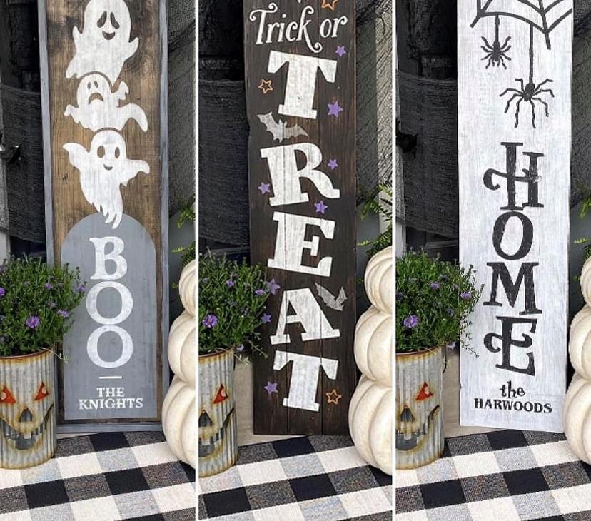 halloween art signs