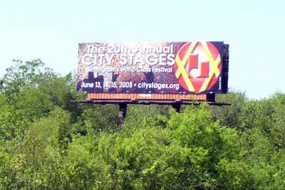 City Stages Billobard On I-20/59