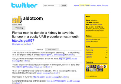 aldotcom Twitter profile screenshot