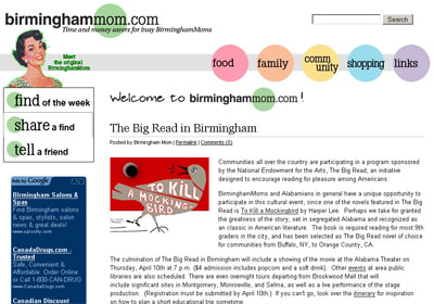 Birminghammom.com screenshot