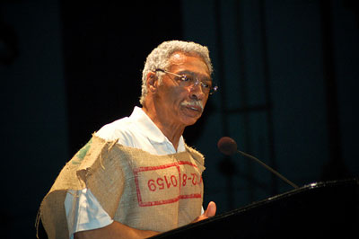 Larry Langford with sackcloth