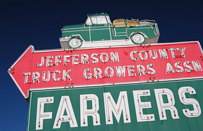Jeffco Farmers Market sign