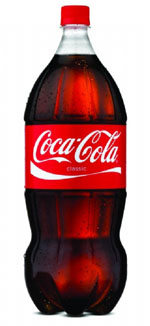 Image of new Coca Cola contoured 2-liter bottle.