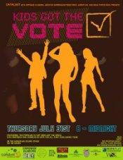 Kids Got the Vote kickoff poster