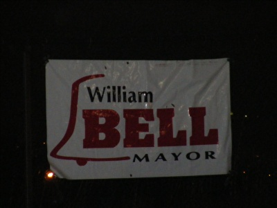 Bell for mayor sign 2009