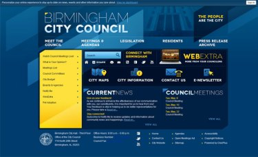 Birmingham City Council's new website