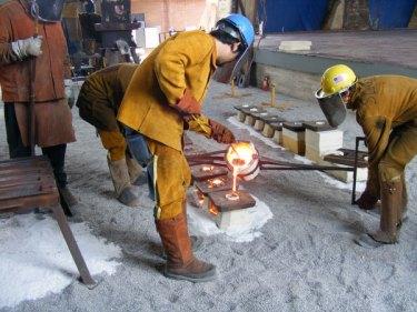 Commemorative Iron Pour underway