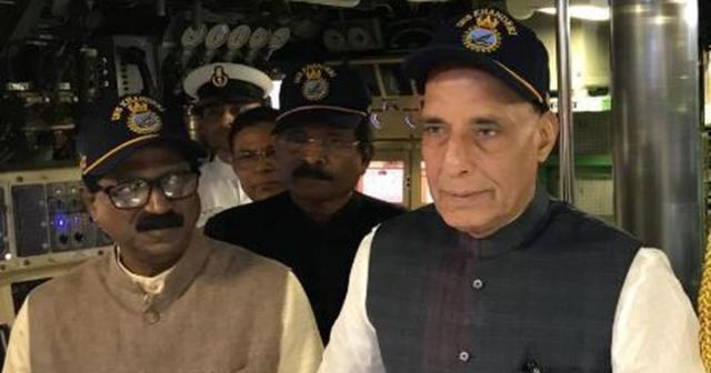 Defense Minister Rajnath Singh launched the first Indian Navy warship INS Nilgiri to beat the radar.