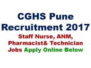 CGHS Staff Nurse Recruitment 2017