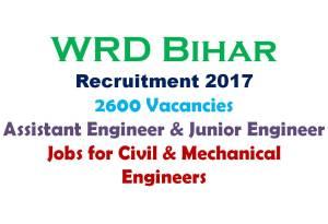 WRD Bihar Recruitment