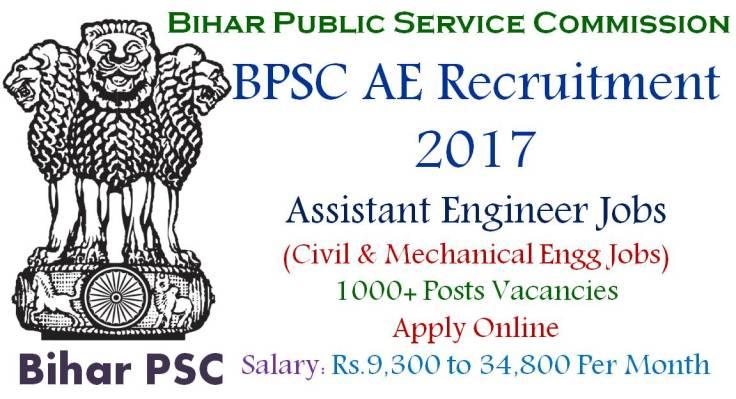 BPSC AE Recruitment 2017