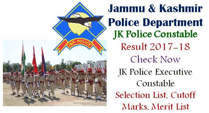 JK Police Executive Constable Result
