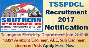 TSSPDCL Notification 2017-18