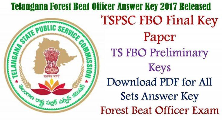 TSPSC FBO Final Answer Key Paper