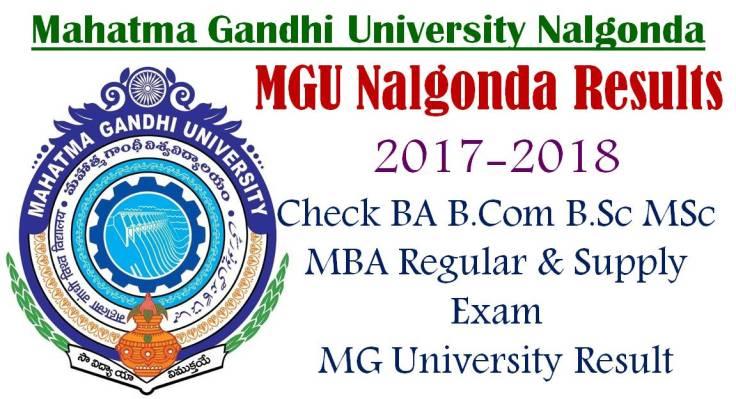 MGU Nalgonda Results