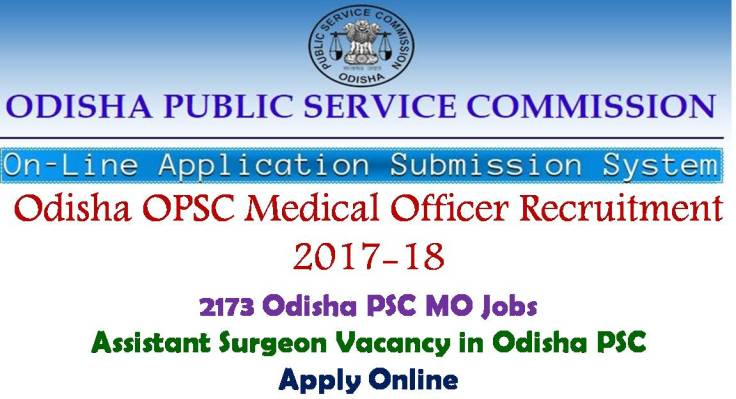Odisha PSC Medical Officer Recruitment