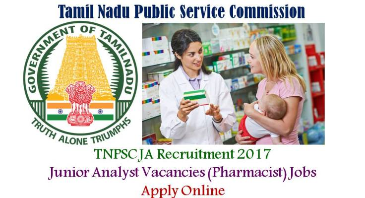 TNPSC jUNIOR Analyst Recruitment for Pharmacy Cadres
