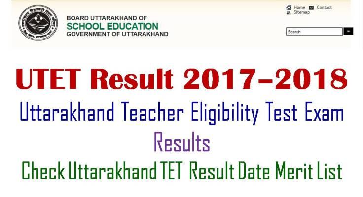 Uttarakhand TET Results