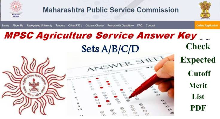 Agriculture Services Mains Exam kEYS