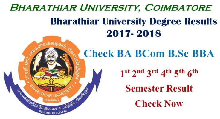 Bharathiar University Degree Result 2017