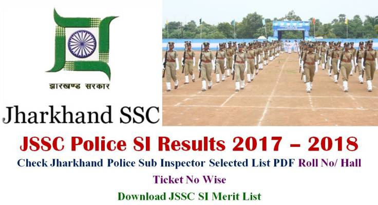 Jharkhand JSSC Police SI Results 20187