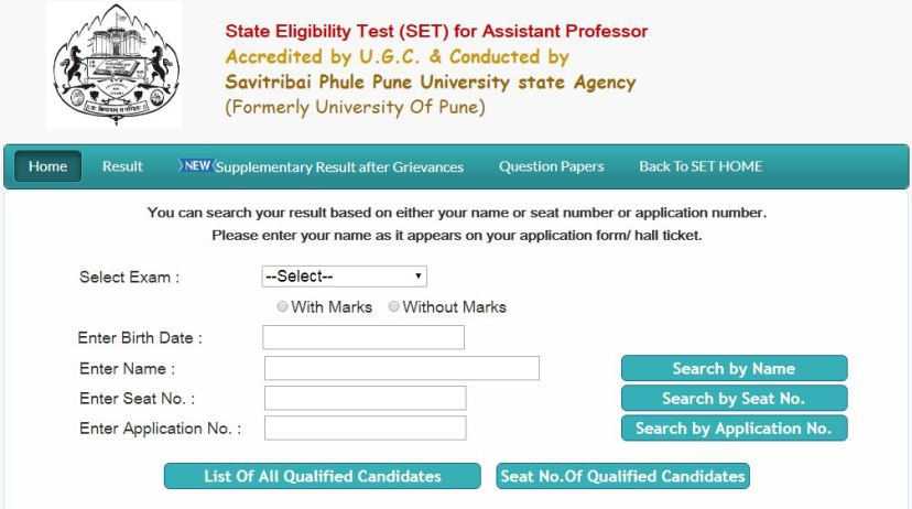 Maharashtra SET Results, MH SET Exam result, MAHA SET Result Date