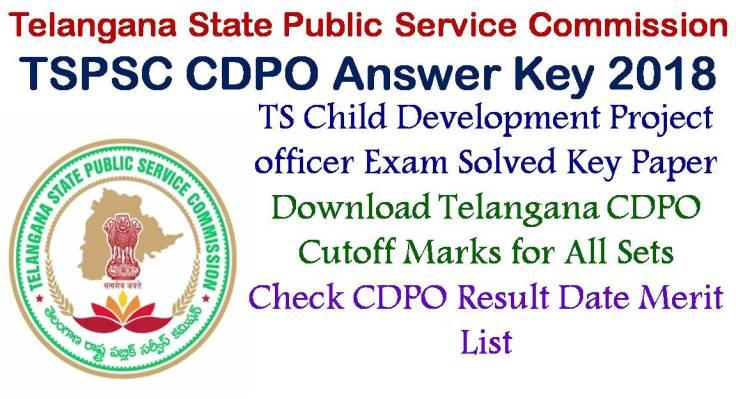 TS Child Development Project officer Exam Key Paper