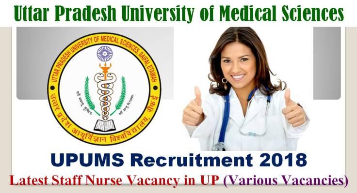 UPUMS Recruitment 2018