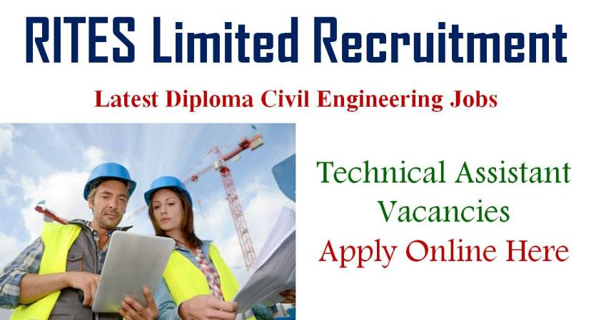 Latest Civil Engineer Vacancies, Civil Jobs, Diploma Jobs in RITES Limited